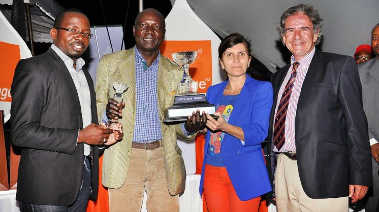 George Mokogi Chief Carrier Services Officer, Winner of Kenya Golf trophy Dr. Noah Winja, Mireille Helou Chief Business Market